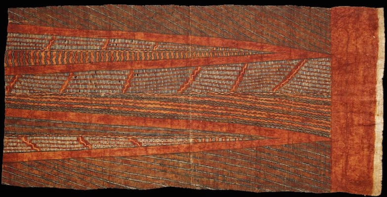 Hawaiian barkcloth, 1770s, 64.5 x 129 cm (Te Papa, New Zealand)