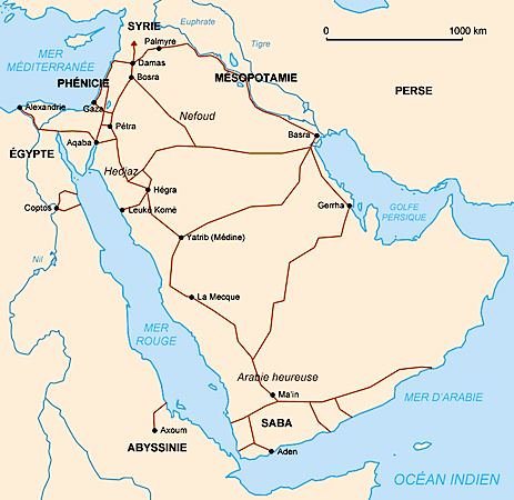 Nabataean trade routes (CC BY-SA 3.0)