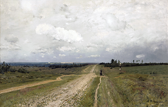 Isaak Ilyich Levitan, Vladimirka Road (Vladimirka), 1892, oil on canvas, 79 x 123 cm (The State Tretyakov Gallery, Moscow, © 2011)