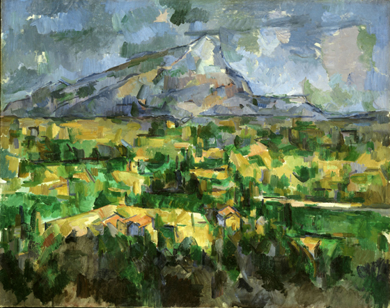 Paul Cézanne, Mont Sainte-Victoire, 1902-04, oil on canvas,  73 x 91.9 cm (Philadelphia Museum of Art)