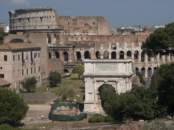View of the Roman forum, looking toward the Colosseum (photo: Steven Zucker, CC BY-NC-SA 2.0)