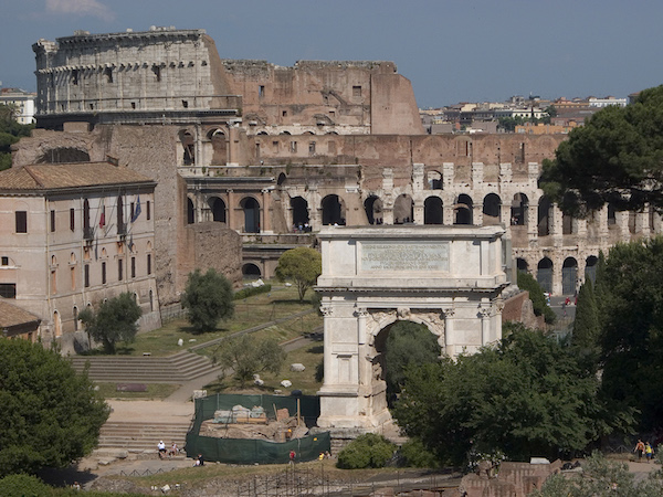 Arch of Titus and the Colosseum, Rome (photo: Steven Zucker, CC BY-NC-SA 2.0)