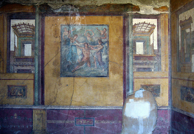 Pompeii house of the vettii wall painting khan academy for Ancient roman mural