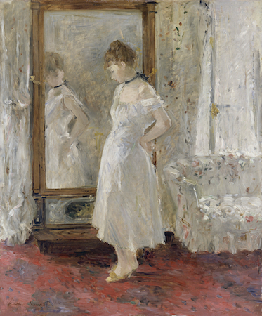 Berthe Morisot, The Psyche Mirror, 1876, oil on canvas,  (Museo Thyssen-Bornemisza, Madrid)